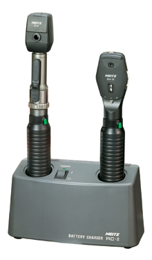 2 Handles Ophthalmoscope and Retinoscope Set